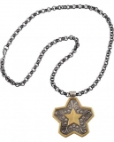 Montana Silversmiths Gold & Silver Tone Star Concho Chain Necklace