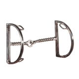FES Twisted Wire D Ring Snaffle Bit