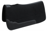 "Showman® 1"" Felt Pad Black with Oversize Leathers 31"" x 33"""