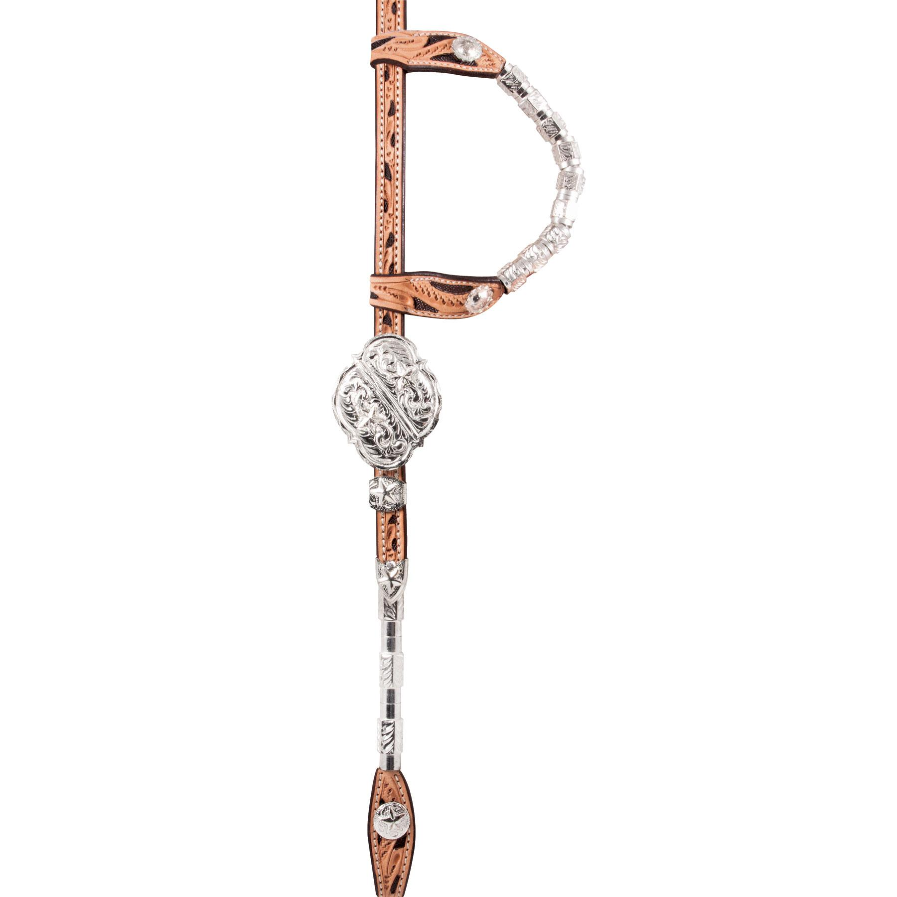 Schneiders Double S Award Square Ferrule Star Headstall