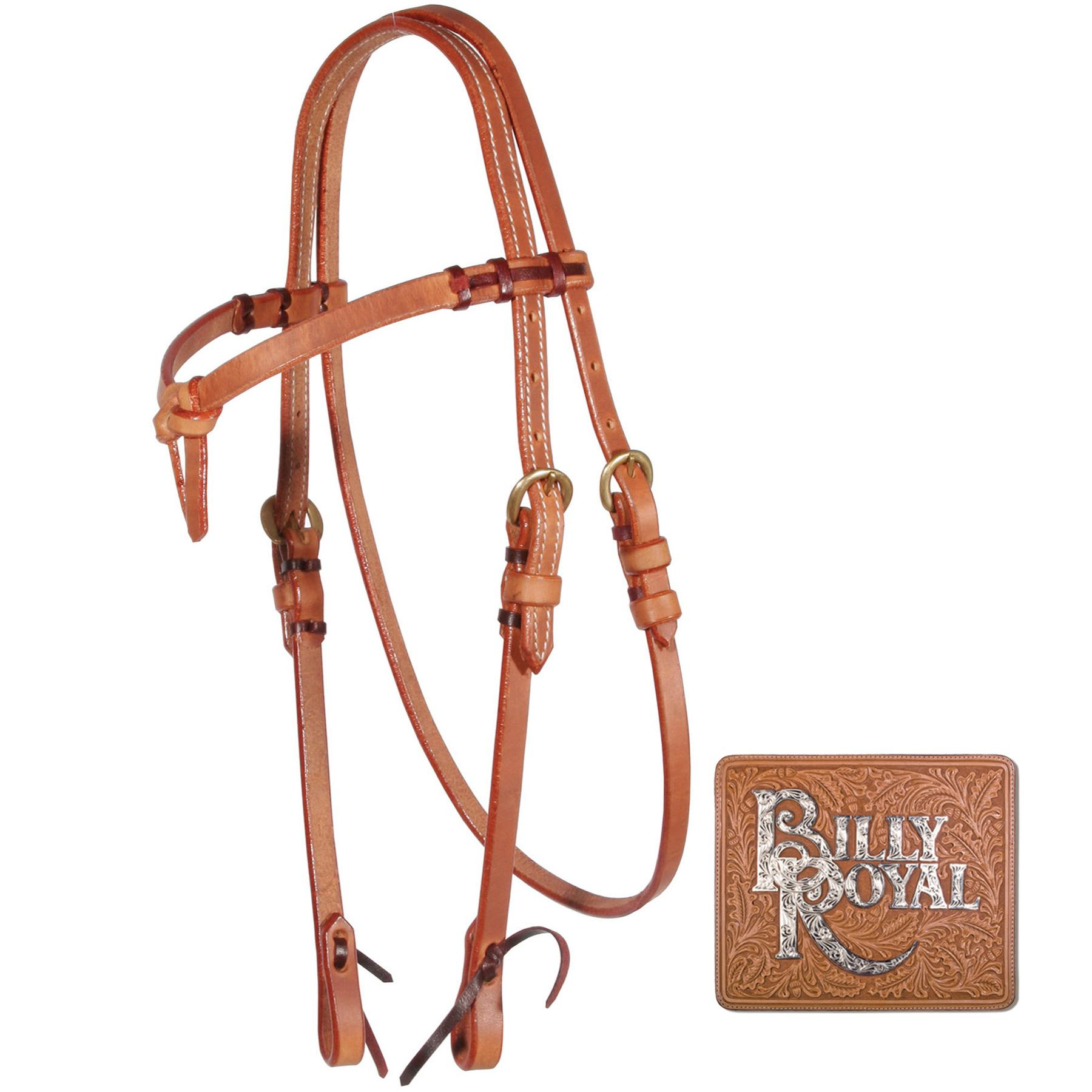 Billy Royal® Harness Leather Futurity Browband Bridle