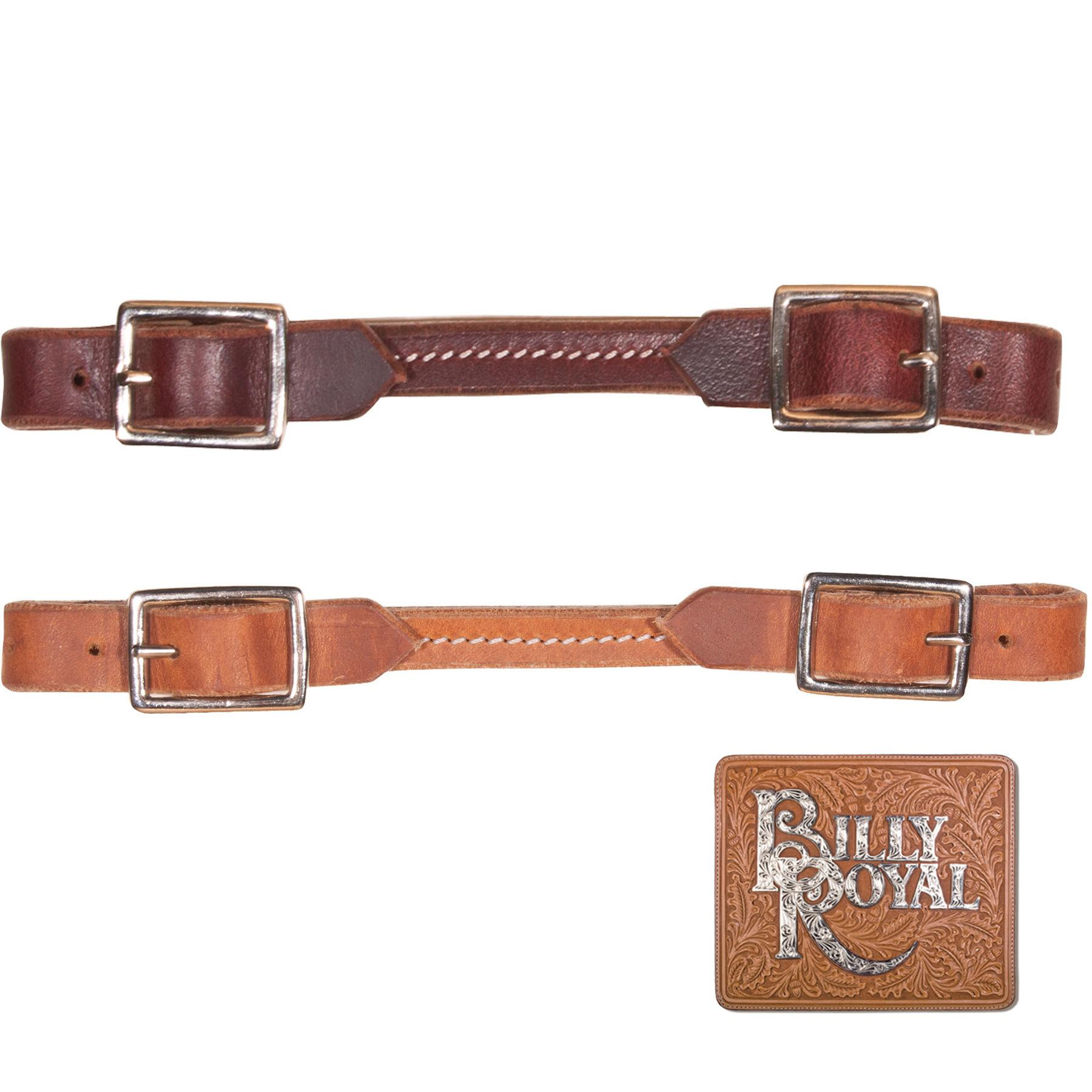 Billy Royal® Harness Leather Square Buckle Curb Strap