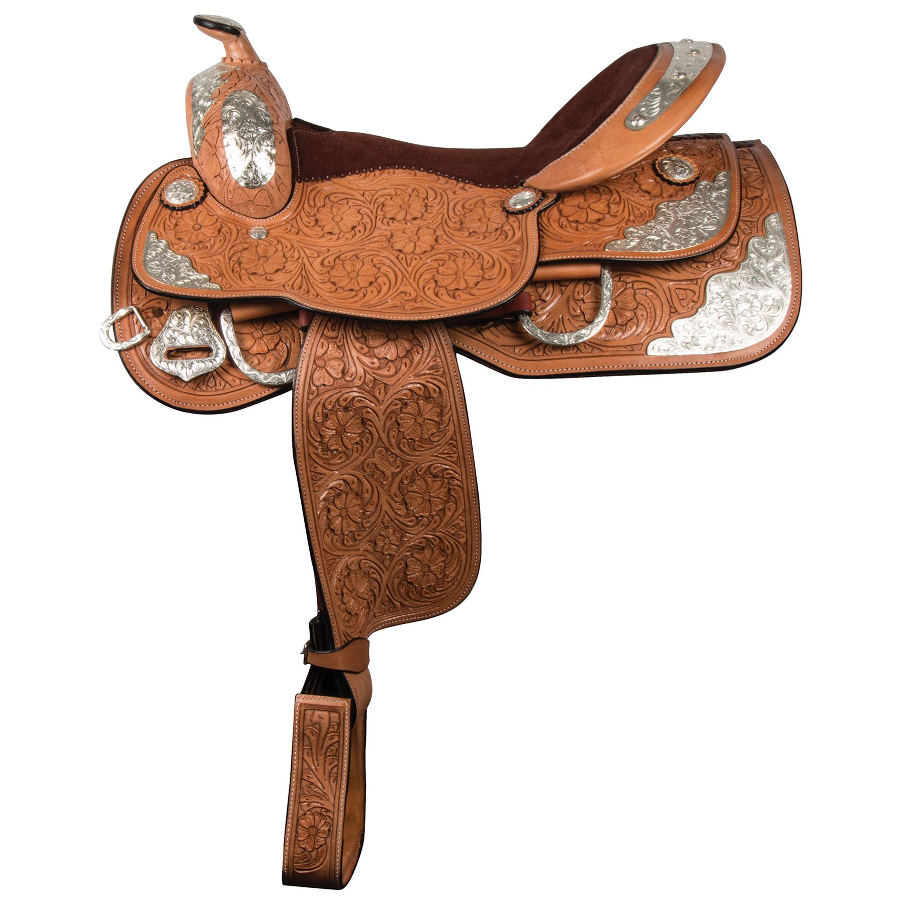 "Double S Denver Show Saddle 17"" (Light Oil)"