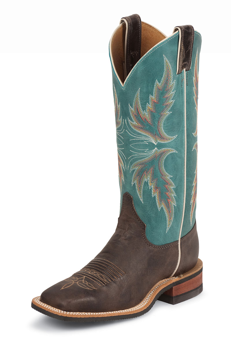 "Justin Bent Rail® Woman´s Uvalde Chocolate 13"" Boots"
