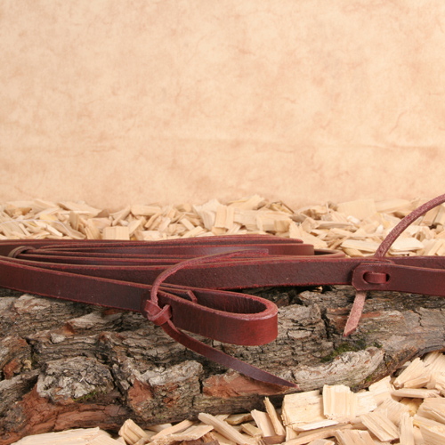 "Western Leather Reins ""Latigo"" - 210cm x 1,6cm (5/8"")"
