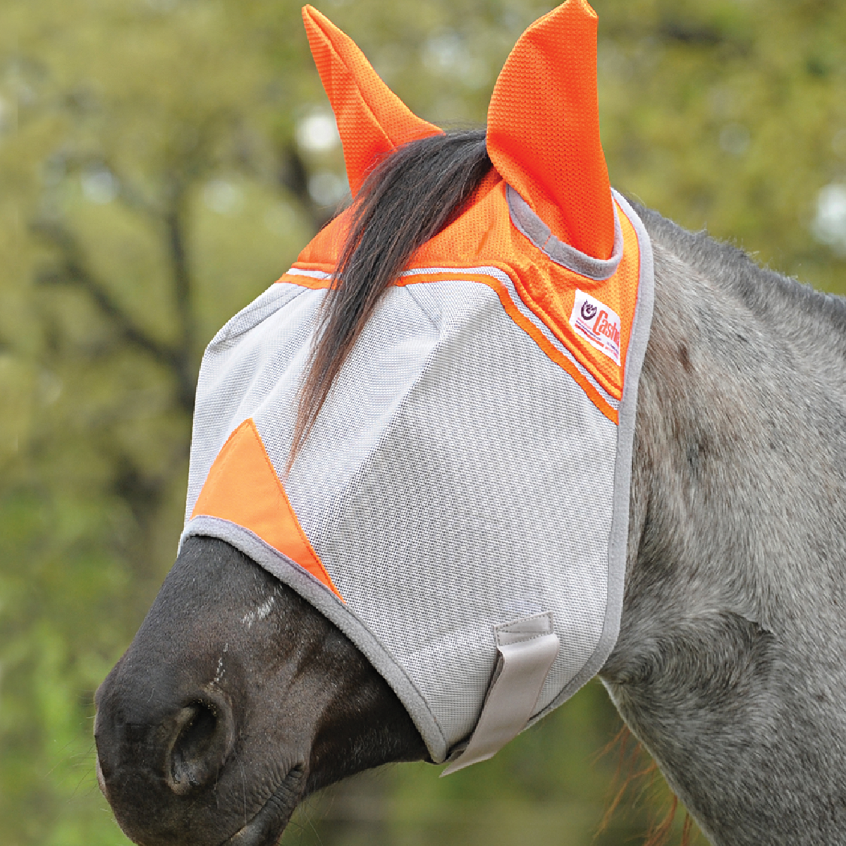 Cashel Crusader Fly Mask Standard - w/ears (ORANGE)