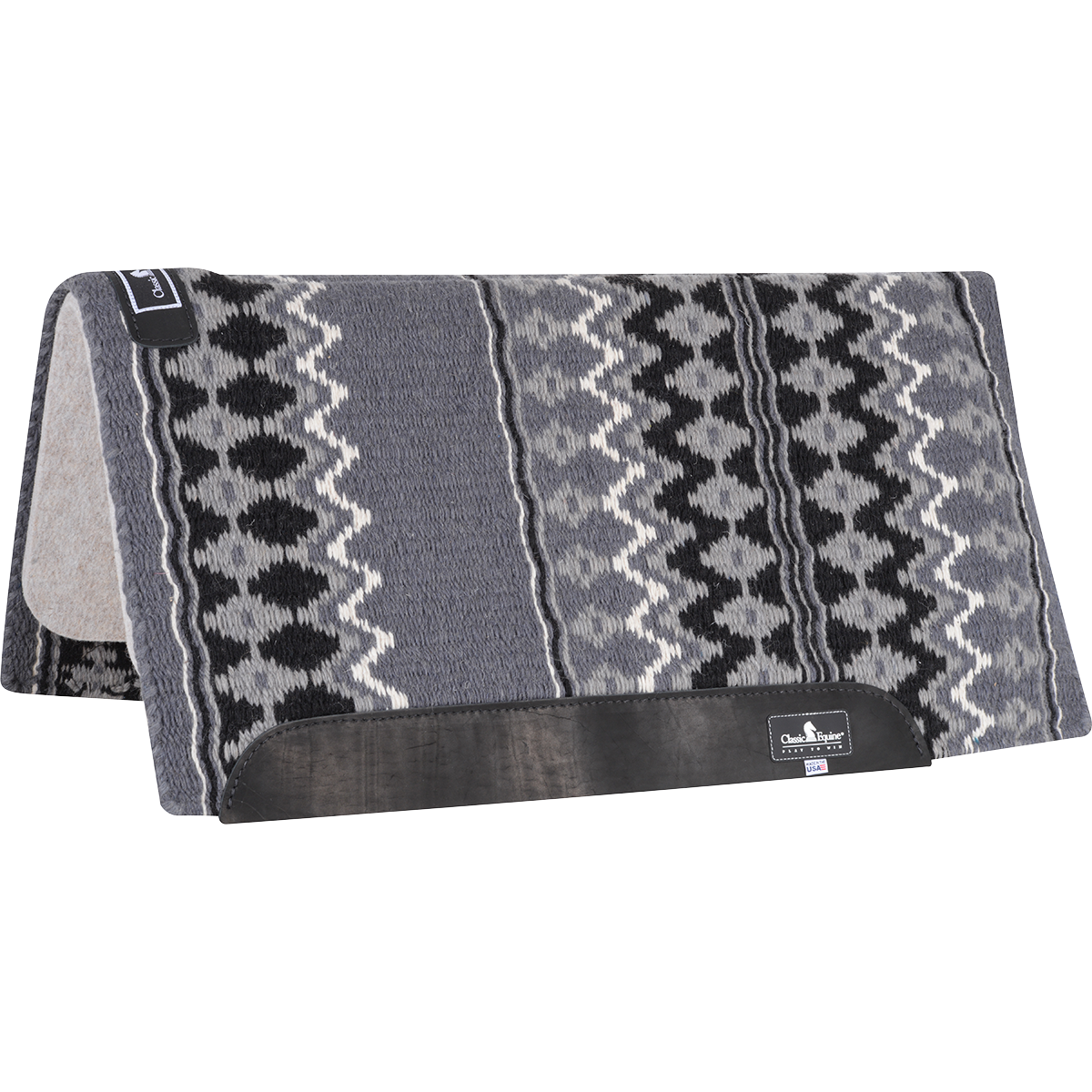 Classic Equine Classic WOOL TOP PAD 32x34 (Charcoal/Black)