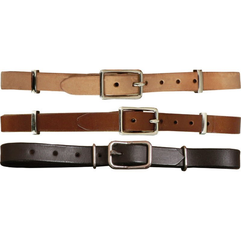 Western Curb Strap Leather