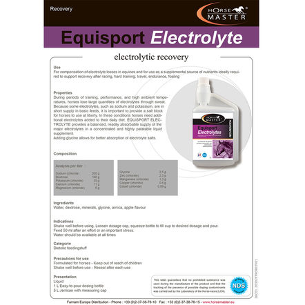 Horse Master Equisport Electrolyte 1l