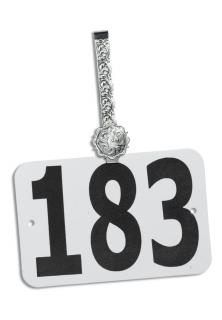 Hobby Horse Argent Scallop Number Hanger