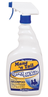 Mane´n Tail Spray 'n White Shampoo 32oz. (946ml)