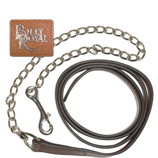 "Schneiders Billy Royal® Leather 1"" Lead with Chrome Chain"