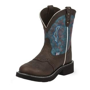 "Justin Ladies Gypsy 8"" Chocolate Buffalo Boots"