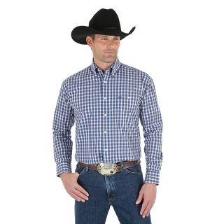Wrangler George Strait Button Down Plaid Shirt