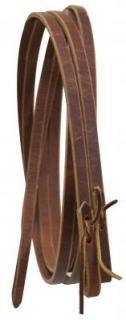 "Showman® Leather reins with water loop ends 5/8"" X8´"