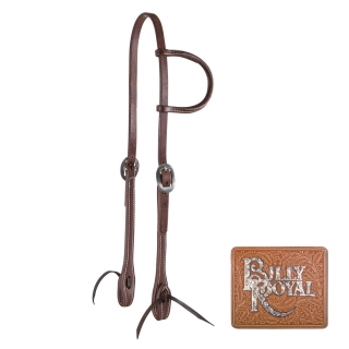 Billy Royal® Oiled Hermann Oak Leather Rolled One Ear Headstall
