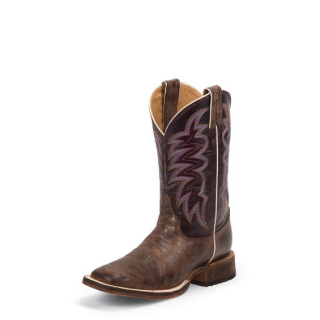 "Justin Bent Rail® Woman´s Yancey Burgundy 11""  Boots"