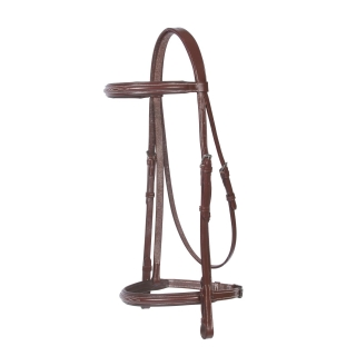Pinnacle Padded Fancy Stitched Bridle Full Size Chestnut