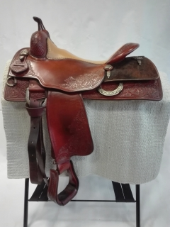 "Randy Paul - Bob´s Reining Saddle 16"" - w/ cowhide housing"