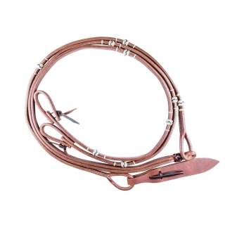 Billy Royal® Flat Harness Leather Romel Reins with Rawhide Accents