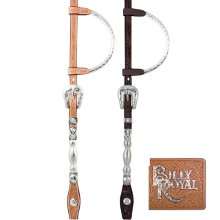 Billy Royal® Flat Ferrule Two Ear Headstall