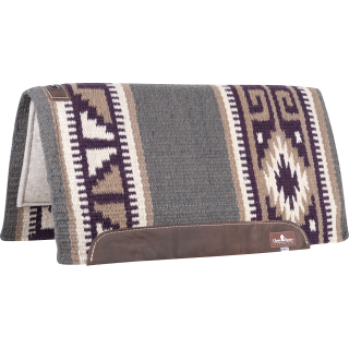 Classic Equine Classic WOOL TOP PAD 32x34 Purple/Tan