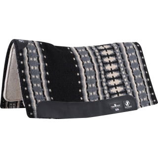 "Classic Equine Zone Wool Top Zoombang Pad 34x38"" - 3/4"" (2019 - Black/Grey)"