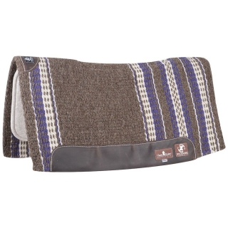 "Classic Equine Zone Wool Top Zoombang Pad 32x34"" - 3/4"" (2018 - Coffee/Purple)"