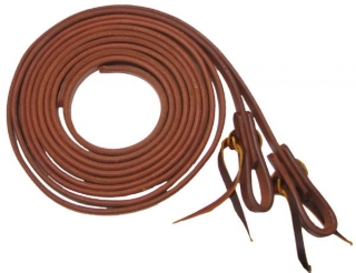 "Harness Leather Split Reins 5/8"" X 8' edged sides"
