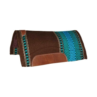 "NRHA Bar 8 - Mayatex western pad 1"" (34x36"") - Brown/Aqua"