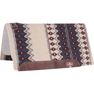 Classic Equine Classic WOOL TOP PAD 32x34 (Ivory/Navy)