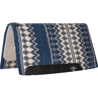 "Classic Equine Classic Wool Top Pad 34x38"" - 1"" (2020 - Navy/Cream)"
